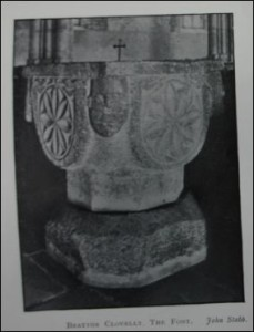 St Mary the Virgin Norman Font from 'Some Old Devon Churches'